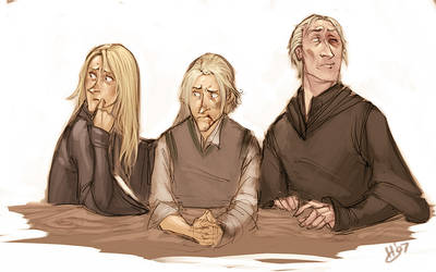 DH: malfoy huddle by makani