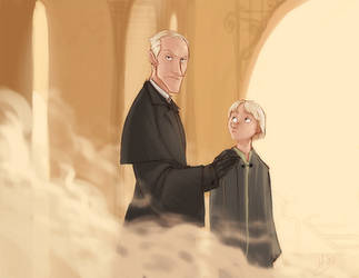 DH - Mr. Malfoy and son by makani