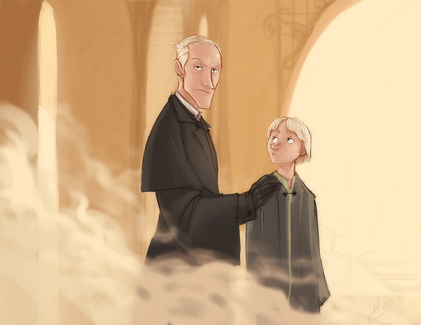 DH - Mr. Malfoy and son