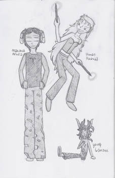 Two Aradias and Ickle Gamzee