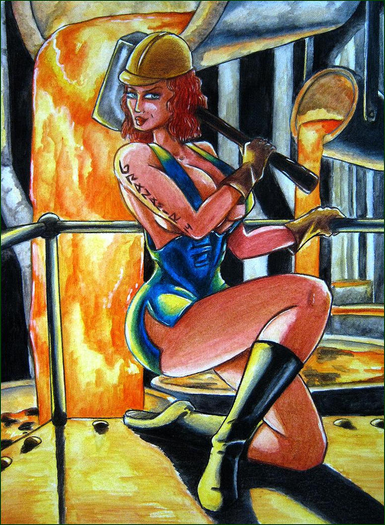 pinup working girl by Granamir by Granamir