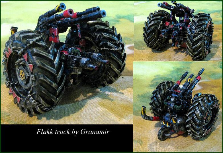 40k orks Flakk Truck by Granamir by Granamir