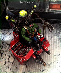 40k Orks  big mek cult of speed by Granamir