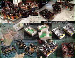 Necromunda garbase cans by Granamir