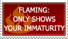 Flaming-immaturity stamp by JaxxyLupei