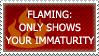 Flaming-immaturity stamp by JaxxyLupei