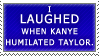Kanye and Taylor Stamp by JaxxyLupei
