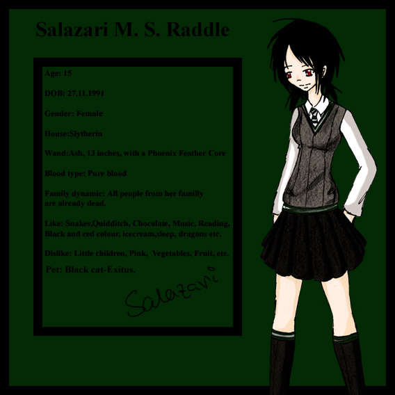 Salazari M. S. Raddle by Hogwarts-Castle