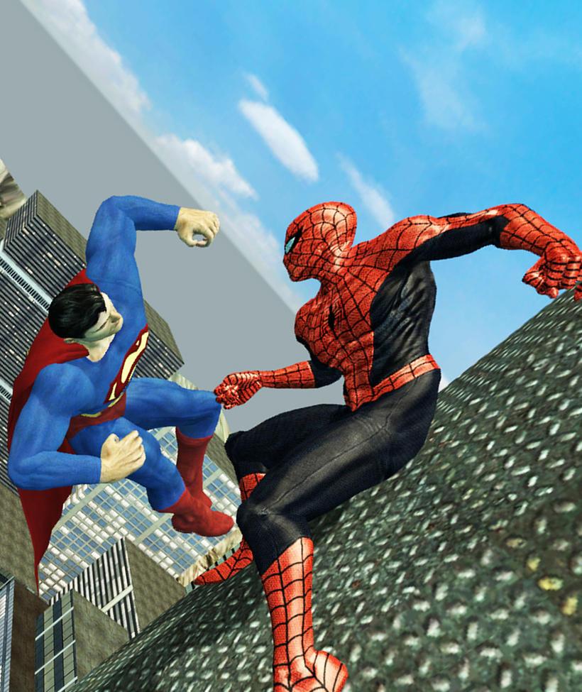 Spiderman vs Superman by ALF13REDO on DeviantArt