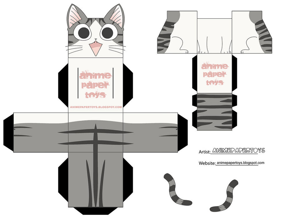 Chi chis sweet home cubee by animepapertoys on deviantart for Paper craft home