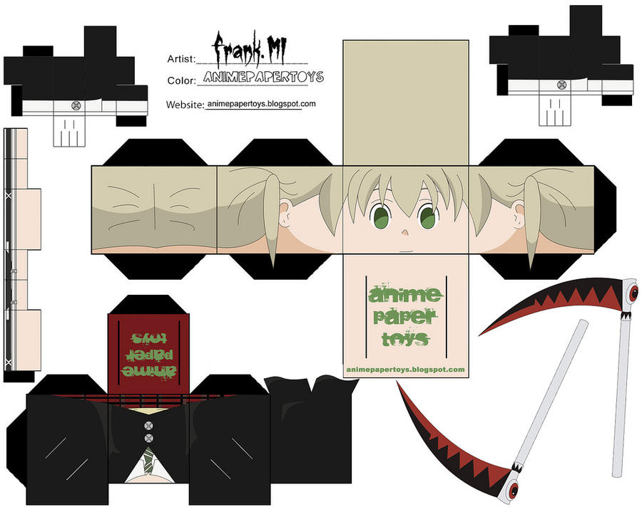 maka - soul eater cubee by animepapertoys