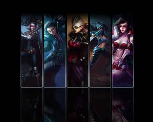 Vayne wallpaper (all skins)