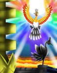 The shiny rainbow pokemon appears
