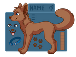 PTU canine line art (price lowerd~)