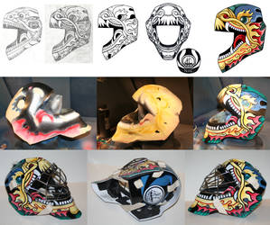Chinese Dragon Goalie Mask design