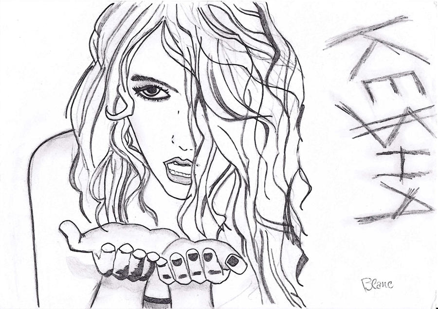 kesha coloring page online gallery