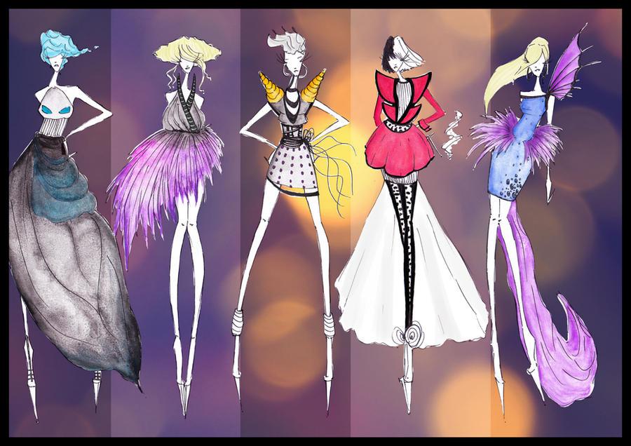Disney Villains Fashion I by CdCblanc