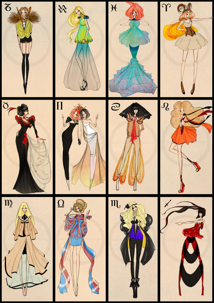 Zodiac Fashion By Cdcblanc On Deviantart