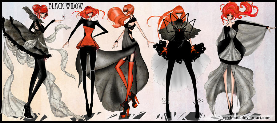 Black Widow Fashion by CdCblanc