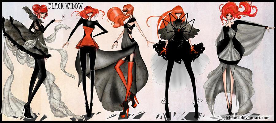 Black Widow Fashion by CdCblanc
