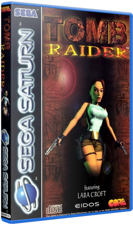 Tomb Raider (SEGA Saturn) [1996] - 3D Cover by KASTORMDM