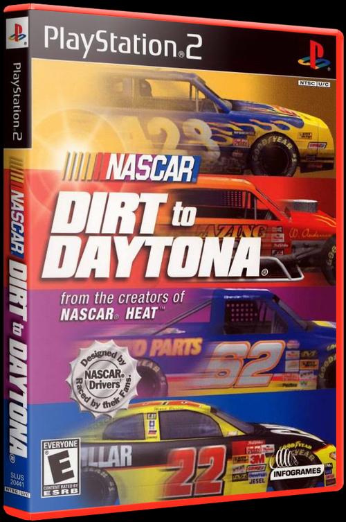 NASCAR: Dirt to Daytona (PS2) [2002] - 3D Cover by KASTORMDM