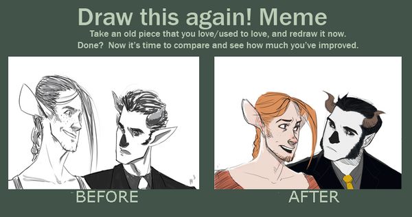 Draw This Again! Meme. Baph and Stieve by CaptainUSSR