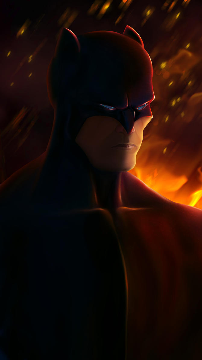 Bat On Fire by KatchArt