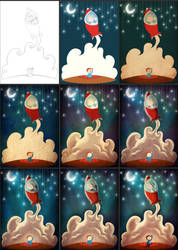 Dreaming boy Process by HenriqueJorge