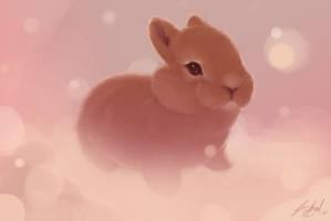 Bunny Fluff by aluckymuse