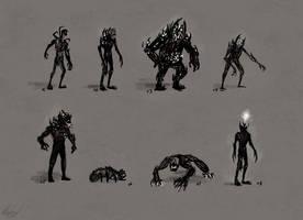 Awake Zombie Iterations by aluckymuse