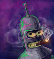 Reward Sketch Zarlarck 07: Bender by aluckymuse