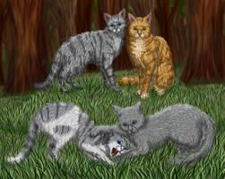 Dovepaw, Ivypaw, Lionblaze, Cinderheart. by Alisa222