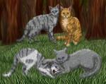 Dovepaw, Ivypaw, Lionblaze, Cinderheart.