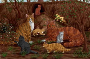 Squirrelflight, Leafpool and kit by Alisa222