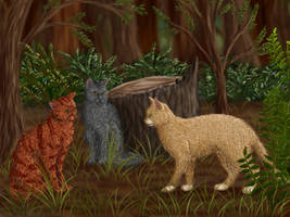 Firepaw, Graypaw and Sandpaw by Alisa222