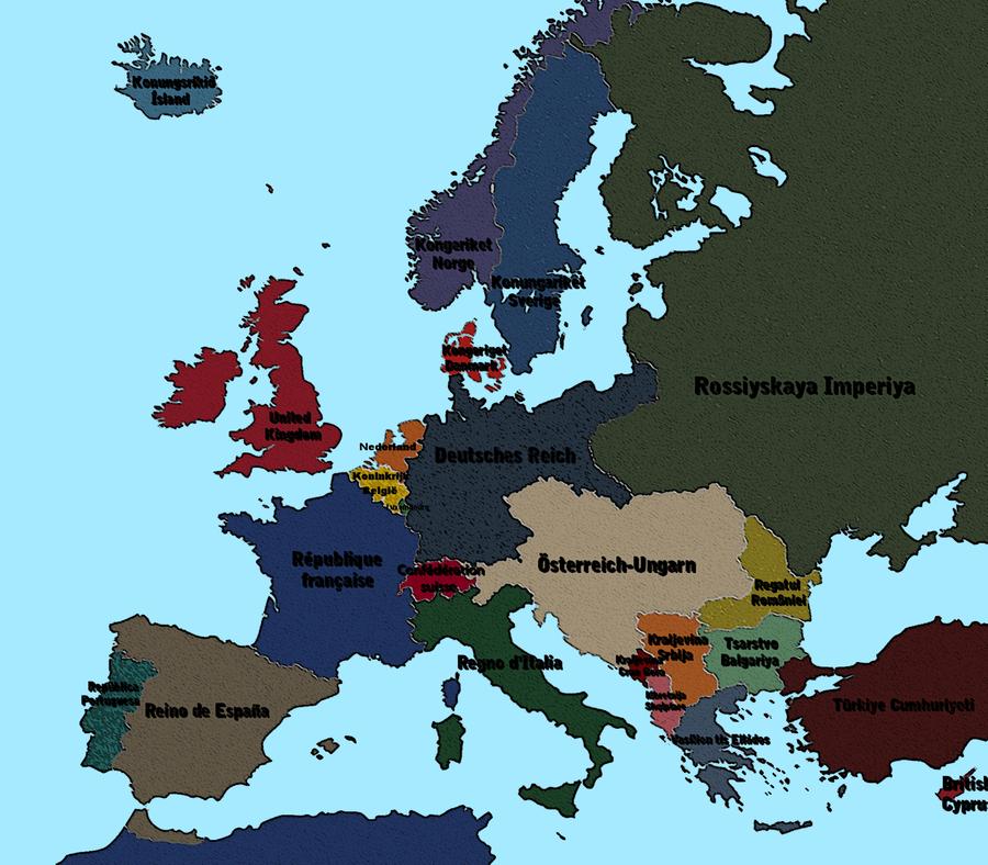 1913 Pre war Europe by vaipaBG on DeviantArt