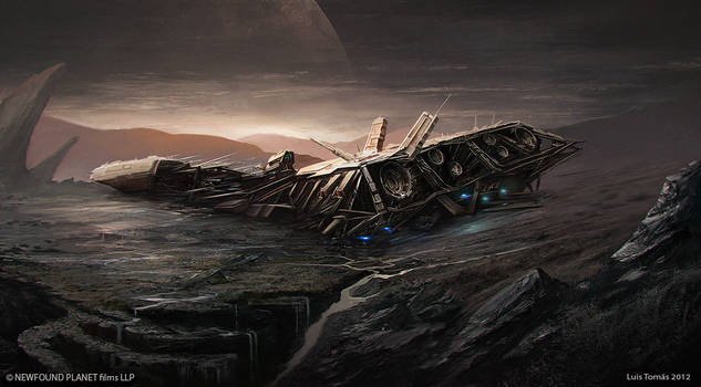 spaceship in a planet