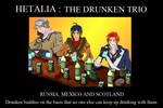 Hetalia  Drunken trio  poster