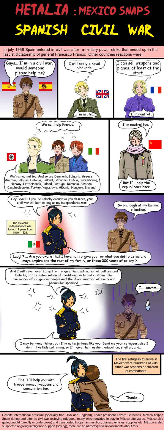 Hetalia Mexico and the spanish civil war by chaos-dark-lord