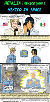 Hetalia Mexico and USA - first  in space