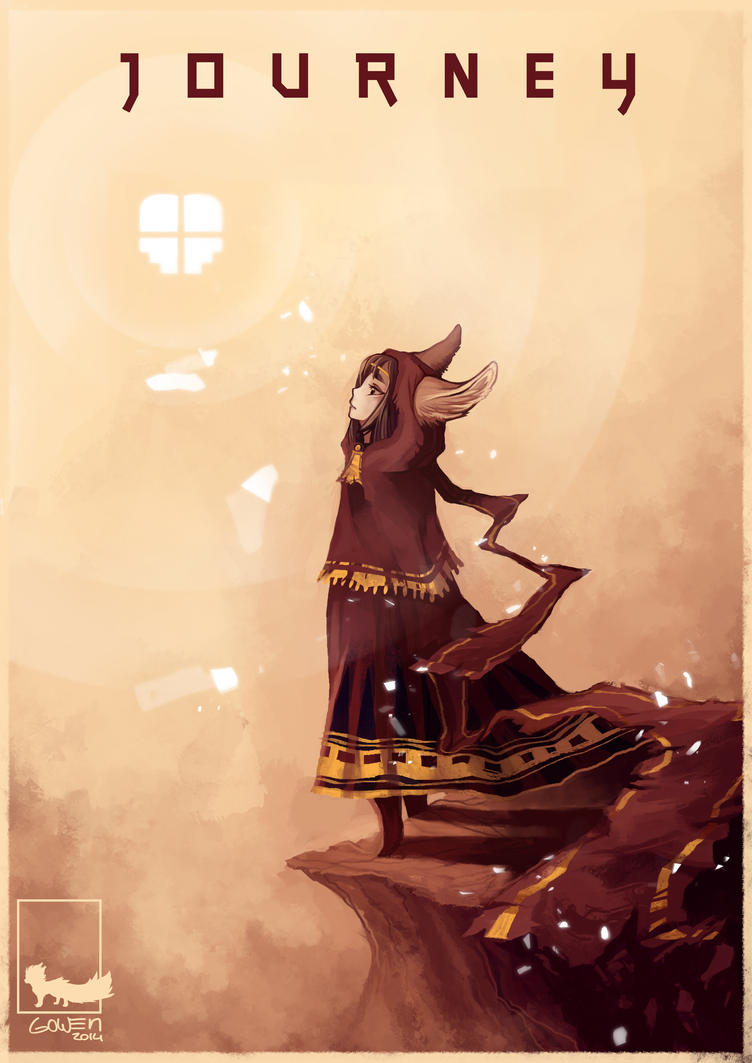 Journey fennec female human concept art poster by xyGowenxy