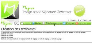 MeganeISG web interface