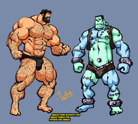 Hercules and Frankenstein 2018 by mauleo