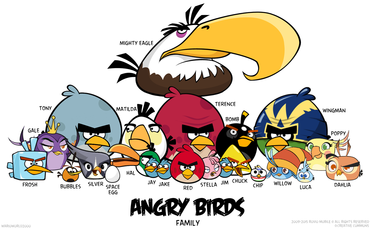 Angry Birds Family Flock V.1 by Warioworld2000 on DeviantArt