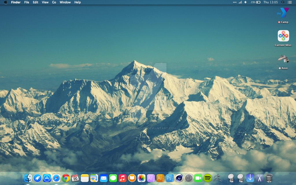 Current Desktop Mac iOS by Benenenenen