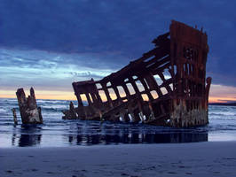 peter iredale wreck by Alegion-stock