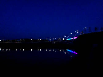 Rainbow Bridge By Night by Flashpelt1