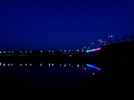 Rainbow Bridge By Night