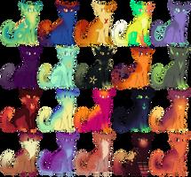 Mass Cat Adopts (5 left!) by Flashpelt1